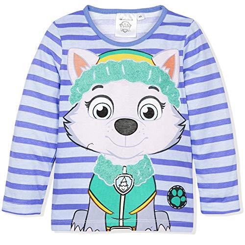 Nickelodeon paw patrol everest, t-shirt bambina, (blue 17-4037tc), 5 anni