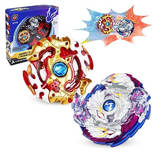 infinitoo Kampfkreisel Burst, 2 Stück Kampfkreisel Set 4D Fusion Modell Metall Masters ,Beschleunigungslauncher Speed Kreisel Tolles Kinder Spielzeug Geschenk für Weihnachten, Geburtstag