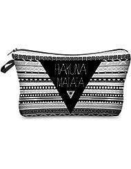 Hakuna Matata Aztec Kosmetiktasche Federmappe Mäppchen Tüte Beutel Zipper Kulturbeutel Make Up Bag Reißverschluss Full Print All Over Kosmetiktüte