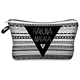 Hakuna Matata Aztec Kosmetiktasche Federmappe Mäppchen Tüte Beutel Zipper Kulturbeutel Make Up Bag Reißverschluss Full Print All Over Kosmetiktüte