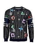 PlayStation Weihnachtspullover Symbols Schwarz Weihnachts Sweatshirt Unisex - 4XL