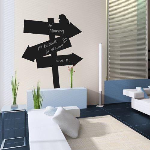 STICASA - Find your way Blackboard- 58x67 - Wall stickers – Wallstickers wandtattoo schlafzimmer aufkleber