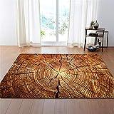 CHAOSE Leichte Weiche Polyester-Baumwolle Bedruckte Fläche Teppich Bodenmatte Rinde Textur Serie Für Wohnzimmer und Schlafzimmer (Style 3, 60 x 39 in(152.4 x 99.1 cm))