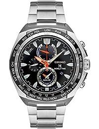 Nuevos Seiko ssc487mundo tiempo cronógrafo Solar Prospex por Seiko relojes reloj para hombre de acero inoxidable