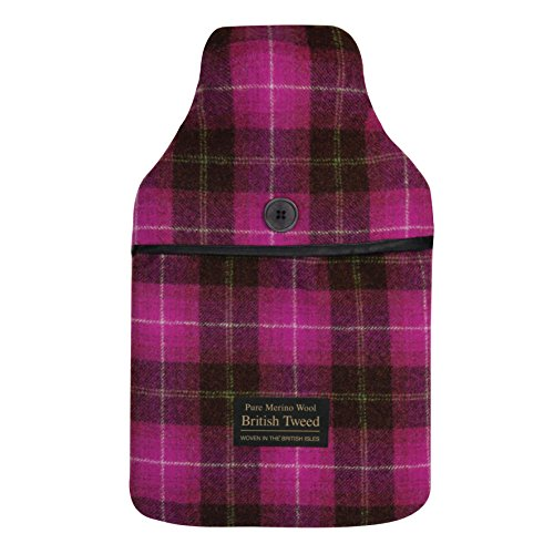 Aroma Home Luxus Tweed Hot Water Bottle, Pink (Pink Tweed Hot)