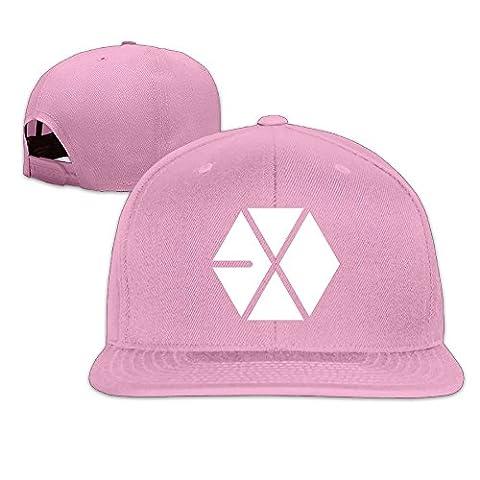 NUBIA EXO Logo Custom Sun Protection Cap Adjustable Flat Bill Hat Pink