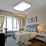 VINGO® 50W LED Deckenleuchte kaltWeiß Badezimmerlampe Innenleuchte Wohnraumleuchten Wand-Deckenleuchte Innenleuchte Beleuchtung Ultraslim Küche Büro Schlafzimmer