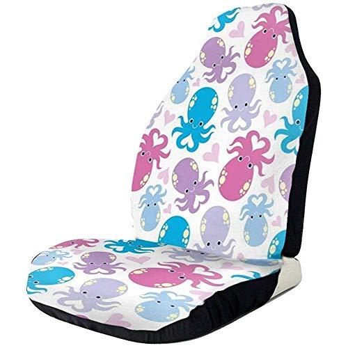 Be-ryl-Cars seat covers Coprisedili per Auto Simpatici Cartoni Animati Animali marini Poliestere Stampato Full Size Sedile Anteriore e Posteriore 2 Pezz