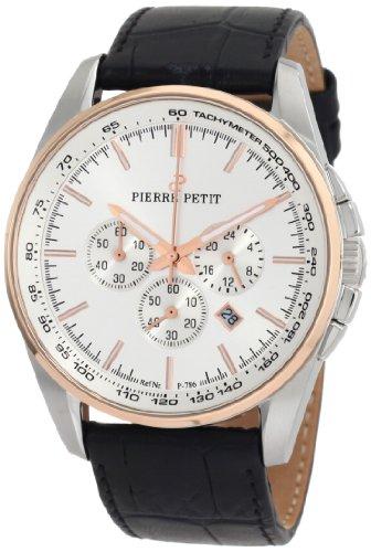 Pierre Petit Herren-Armbanduhr XL Le Mans Chronograph Leder P-786B