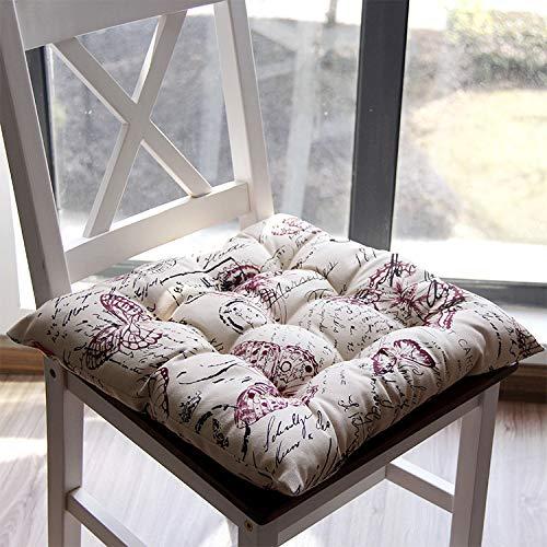 Emjoy Sitzkissen Für Sofakissen-Stuhlkissen Britisches und Amerikanisches Land-Blumen-Tatami-Kissen