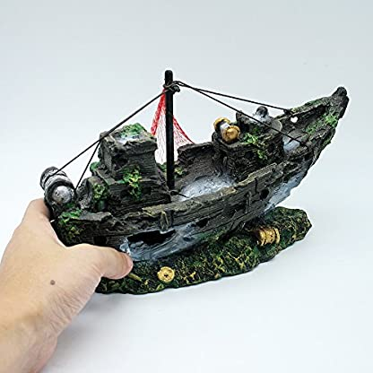 Dimart Simulation Lifelike Artificial Resin Dead Tree Trunk Landscaping Aquarium Ornaments for Fish Tank Grey 2