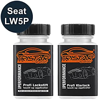 TRISTARcolor Autolack Lackstift Set Seat LW5P Azul Apolo Metallic Basislack Klarlack je 50ml