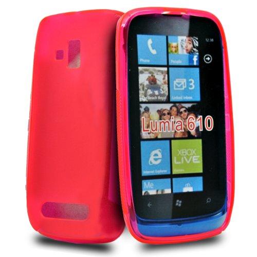 24/7 kaufhaus- Rosa GEL silikon schutz Hülle case cover tasche für Nokia lumia 610
