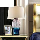 Xcjyy Stile mediterraneo, Lampade da tavolo decorative / Creative, Lampada da vetro / Apparecchi per illuminazione della sala da soggiorno,A
