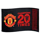 MANCHESTER UNITED FC CHAMPIONS 5X3 FLAG WH