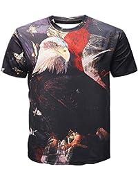 32bbecc70d1d2 Vintage Drapeau américain Eagle imprimé 3D T-Shirt d'été, Plus la Taille Tee  Tops Hommes Femmes Hip Hop Pullovers…
