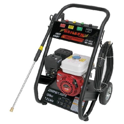 Pressure Jet Washer Petrol 2200psi 5.5hp With Water Drawer Function