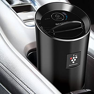 Sharp Plasmacluster Air Purifier Model IG-GC2E-B (Metallic Black) for Cars, Vans & SUVs with coverage of 3.6 cu. m. (127 cu. ft.)