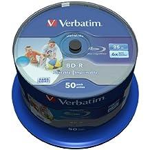 Verbatim 43812 - Discos de Blu-ray printables e imprimibles, (25GB), 50 unidades