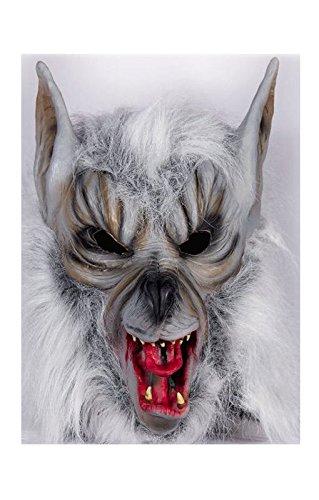 masque de loup-garou avec de la fourrure