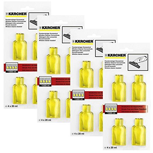 Karcher fenêtre Vac Verre Nettoyage concentré Solution capsules (16x 20ml)