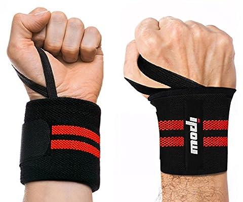 [2 Pièce] Ipow Protège-poignet sport bracelet main-poignet Ceinture protecteur pour gymnastique culturiste/musculation/ aérobic/sports/body-building,