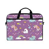 Best Kind Macbook Cases - Laptop Case, Unicorns Rainbow Printed with 3 Compartment Review