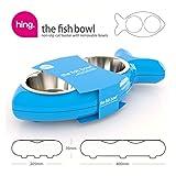 Katzennapf in Fischform – für Wasser und Futter, blau - 4