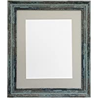 8f5fb78c7f5 FRAMES BY POST Distressed Industrial Blue Photo Frame with Dark Grey Mount  60x80cm Pic Size 50cmx70cm