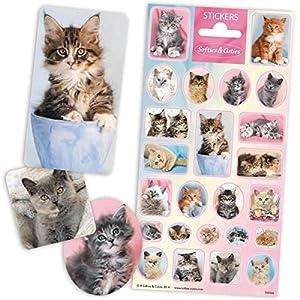speel Goed 1100566-Papeterie y Pegatinas Stickers schattige katjes, Multicolor