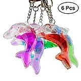 Toyvian Delphin Taschenanhänger Schlüsselanhänger Schlüsselbund mit Flüssigkeit Acryl für Auto Tasche Schlüssel Geldbörse Rucksack 6 STÜCKE (Gelegentliche Farbe)