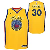 Nike NBA Golden State Warriors Stephen Curry 30 SC30 2017 2018 City Edition Jersey Official,