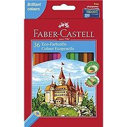 Faber-Castell 120136 - Lápices de colores, 36 unidades - Faber-36 ecolapices colores