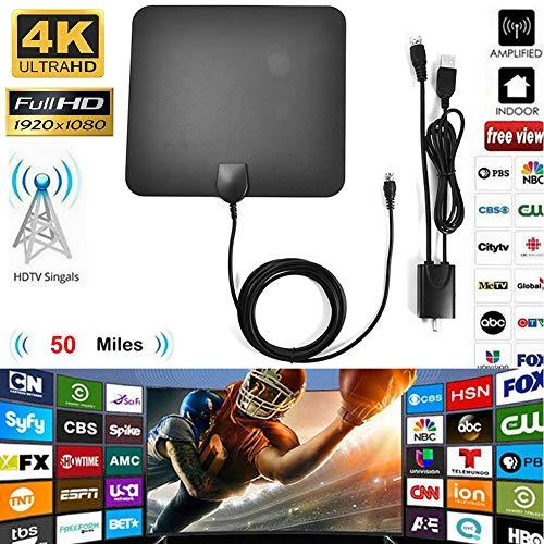 AITOCO 1080P 50 Miles Digital TV Antenne HDTV Indoor mit Verstärker Signal Booster (Ota-signal-verstärker)