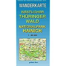 Wanderkarte Westlicher Thüringer Wald, Nationalpark Hainich: Mit Werra-Burgen-Steig. Maßstab 1:50.000. (Wanderkarten 1:50.000)