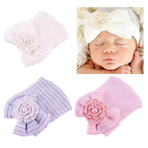 COUXILY Babymütze Baby Mädchen Mütze Neugeborenenmütze Erstlingsmütze Strick Hüte Mützen & Caps Hut- Baumwolle für 0-2 Jahre (H-S02)