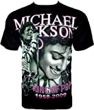 MICHAEL JACKSON 'King Of Pop' T-SHIRT Fanshirt Schwarz R 617
