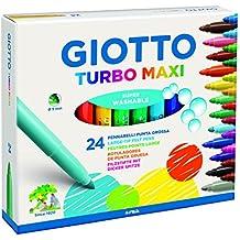 Fila - estuche de 24 rotuladores giotto turbo maxi. tinta inocua a base de agua. color surtido.
