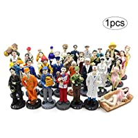 bulingbuling 1 Pc Cute Pretend Career Figures Little Kids Community Play Figures Miniature People Figures Funny Design Figures Playset for Children Craft Accessories(random Color)