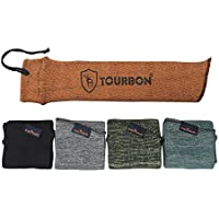 tourbon tratada con aceite de silicona pistola Saco de almacenamiento calcetín de pistola HandGun Case Sleeve 15pulgadas (5piezas), diseño de