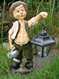 Opa Hans mit Solar Laterne Gartenfigur Deko Figur