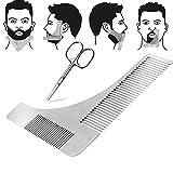 Barba Modello Pettine + Forbici barba per il perfetto Bartfom lo styling della barba rasatura della linea barba barba simmetrica immagine