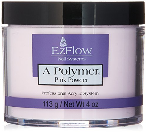 Poudre polymère rose transparente EZFLOW 112g #66049