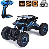 Dirt Drift Waterproof Remote Controlled Rock Crawler RC 2.4 Ghz Monster Wheels, 1:18 Scale, Four Wheel Drive