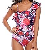 LAB-Bikini Damen Tunika Badeanzug, Einfarbig Gr. XL, Rose