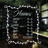 opening hours sign opening times sign for shop window sticker v19 open closed sign business hours personalised business window stickers personalised bespoke signage decals