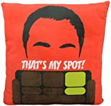 The Big Bang Theory 0122077 Kissen Sheldon Cooper, That`s my Spot, Polyester, schwarz, 40 x 40 x 3 cm