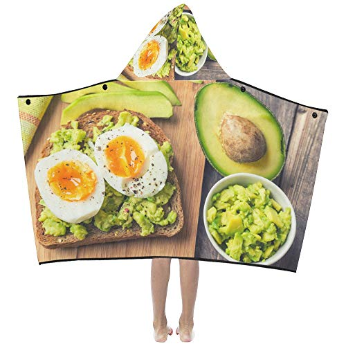 Duftende und attraktive Avocado weiche warme Kinder verkleiden sich mit Kapuze tragbare Decke Badetücher werfen Wrap für Kleinkinder Kind Mädchen junge Größe Home Reise Picknick Schlaf Geschenk