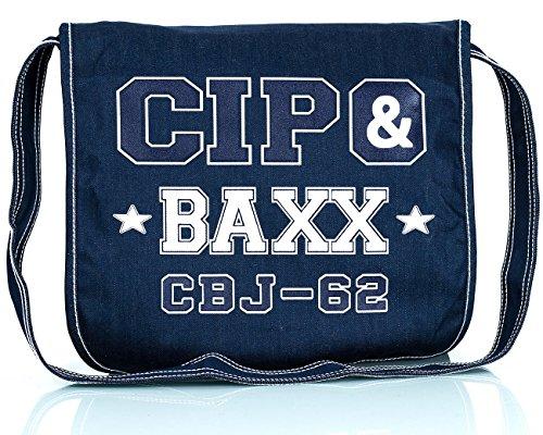 Cipo & Baxx Herren Jeans Dicke Naht Streetwear Dunkelblau
