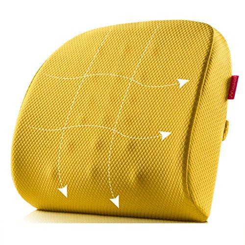 Coussins Coussins et accessoires Coussin lombaire coussin lombaire de coton de mémoire de bureau dos de siège de femmes enceintes oreiller lombaire de voiture (Color : Orange)